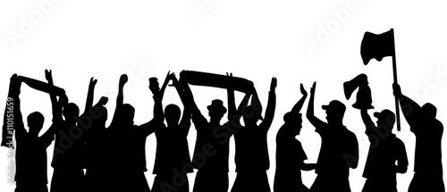 football fans cheering vector
