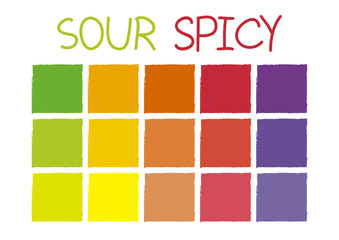 Sour Spicy Color Tone without Code Vector Illustration
