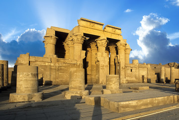 Ruins of the Nile Temple of Kom Ombo, Egypt