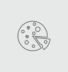 Pizza, illustration icon.