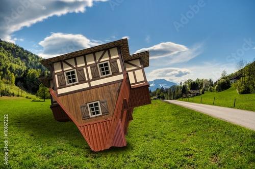 haus auf dem dach 09 imagens e fotos de stock royalty free no imagem 110167222. Black Bedroom Furniture Sets. Home Design Ideas