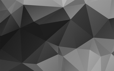 Stylish black and white abstract polygonal vector background