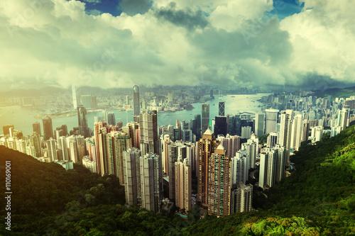 Fototapete Hong Kong from Victoria Peak