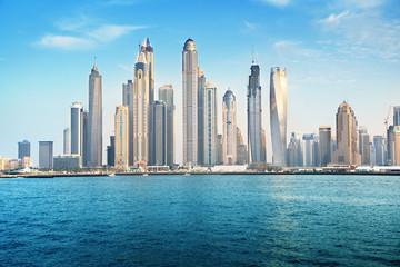Fotomurales - Dubai Marina in sunset time, United Arab Emirates
