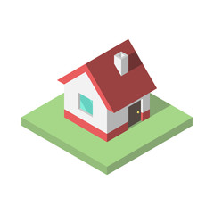 Beautiful small isometric house