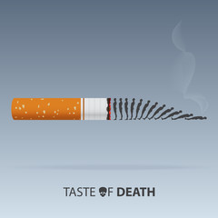 May 31st World No Tobacco Day. Poison of cigarette. Vector. Illustration.