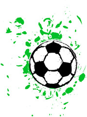 grungy soccer ball, vector