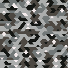 vector seamless pattern in camouflage style, pixelated pattern textile, abstract background