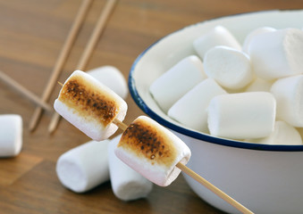 Roasted Marshmallows / Close Up - Macro