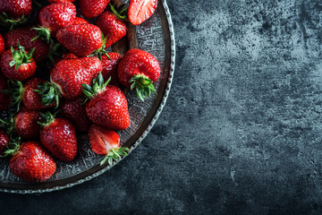 Strawberry. Fresh strawberry. Red strewberry. Strawberry Juice. Loosely laid strawberries in different positions.