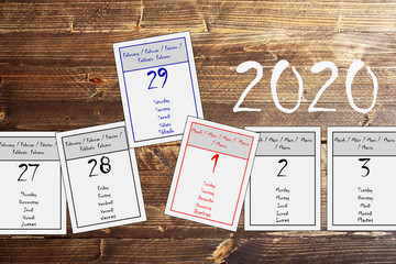 29. Februar, Schalttag im Jahr 2020
