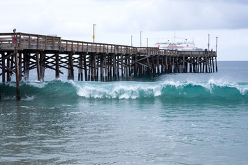 The wooden Balboa Pier in Newport Beach.