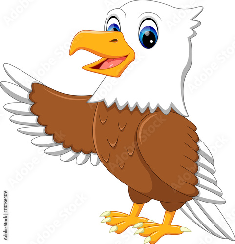 """illustration of cute eagle cartoon"" Stock image and ..."