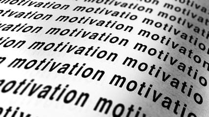 written of motivation on paper