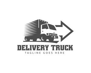 Truck Logo, cargo logo, delivery cargo trucks, Logistic logo
