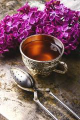 Fototapete - tea and lilac