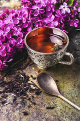 Wall Mural - tea and lilac
