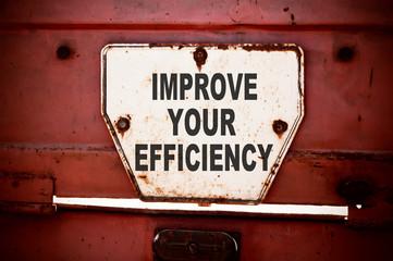 Improve Your Efficiency