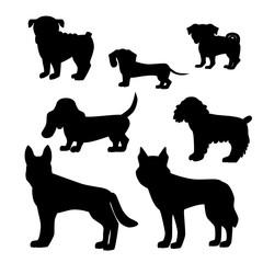 Dog breed set.