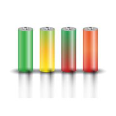 A set of batteries, vector illustration.