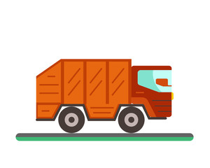 Garbage truck illustration.