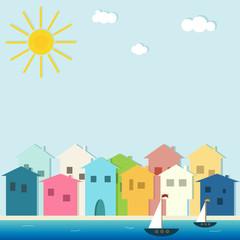 Colorful Seaside Resort