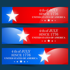 creative vector web banner for 4th of July with nice and creative illustration in a background.