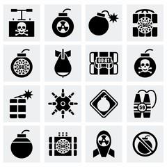 Vector Bomb icon set