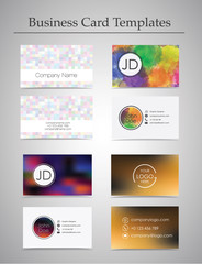 Business Card templates set isolated on gray background