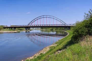 Wittenberg Elbbruecke  -  Wittenberg, the bridge and river Elbe