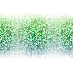 Green white square mosaic vector background