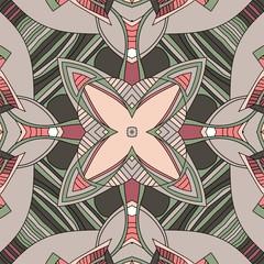 Decorative seamless pattern. Kaleidoscope. Vector illustration.