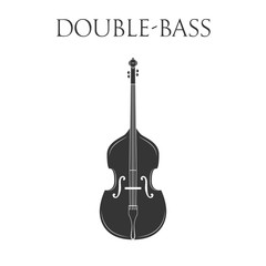 Doublebass. Isolated On White Background.