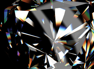 3D illustration of  Diamond. Jewelry background. Fashion accessory