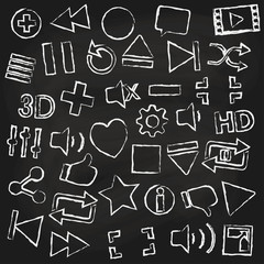 chalk icon for music