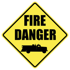 Fire Danger Warning Sign