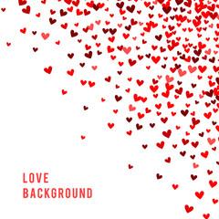 Romantic red background. illustration