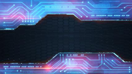 blue powerful technology computer design