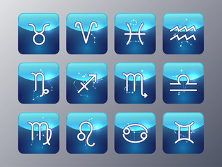 Astrology and alchemy sign icon set  vector illustration