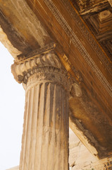 Beautiful detail of Parthenon temple on the Acropolis in Athens.