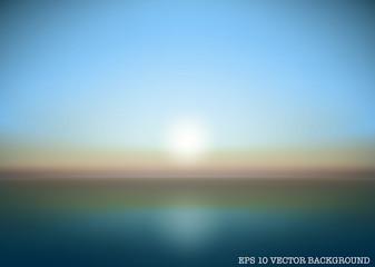 sunrise and sunset vector bacground