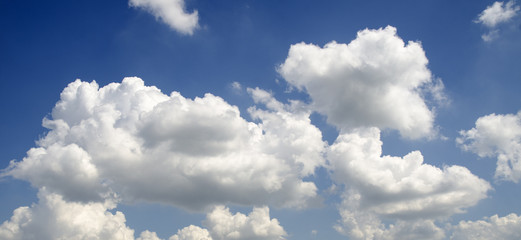 Clouds flying in summer sky