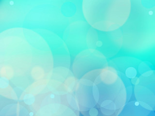Blue bokeh abstract green background