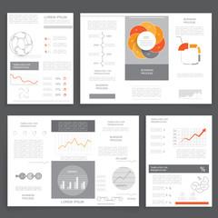 Business graphics brochures