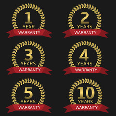 Warranty label set