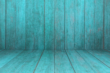 Old blue wooden interior texture background