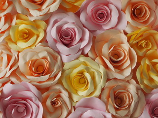Colorful craft roses