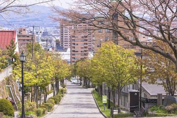 元町地区の坂道