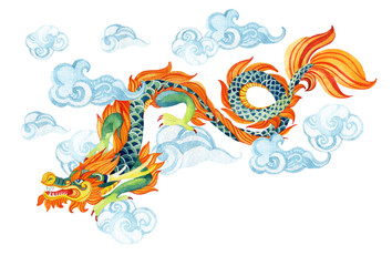Chinese Dragon. Asian dragon illustration