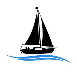 Segelboot Symbol